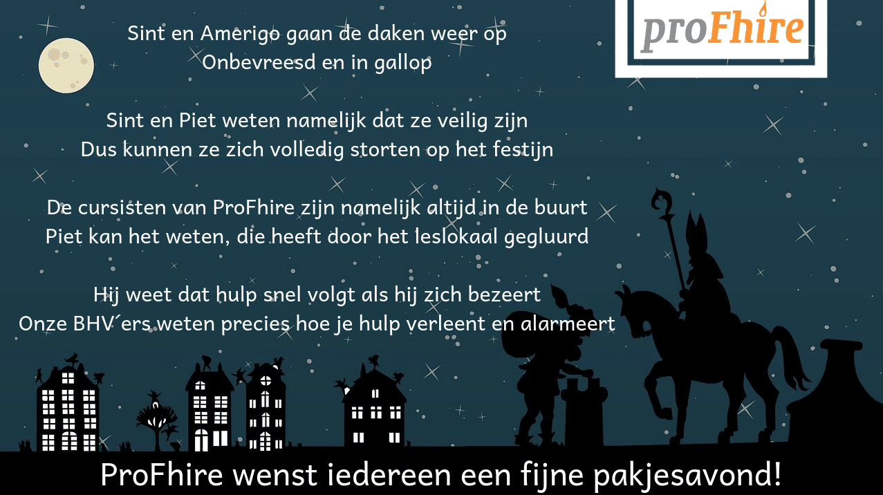 Fijne Sinterklaas van ProFhire!