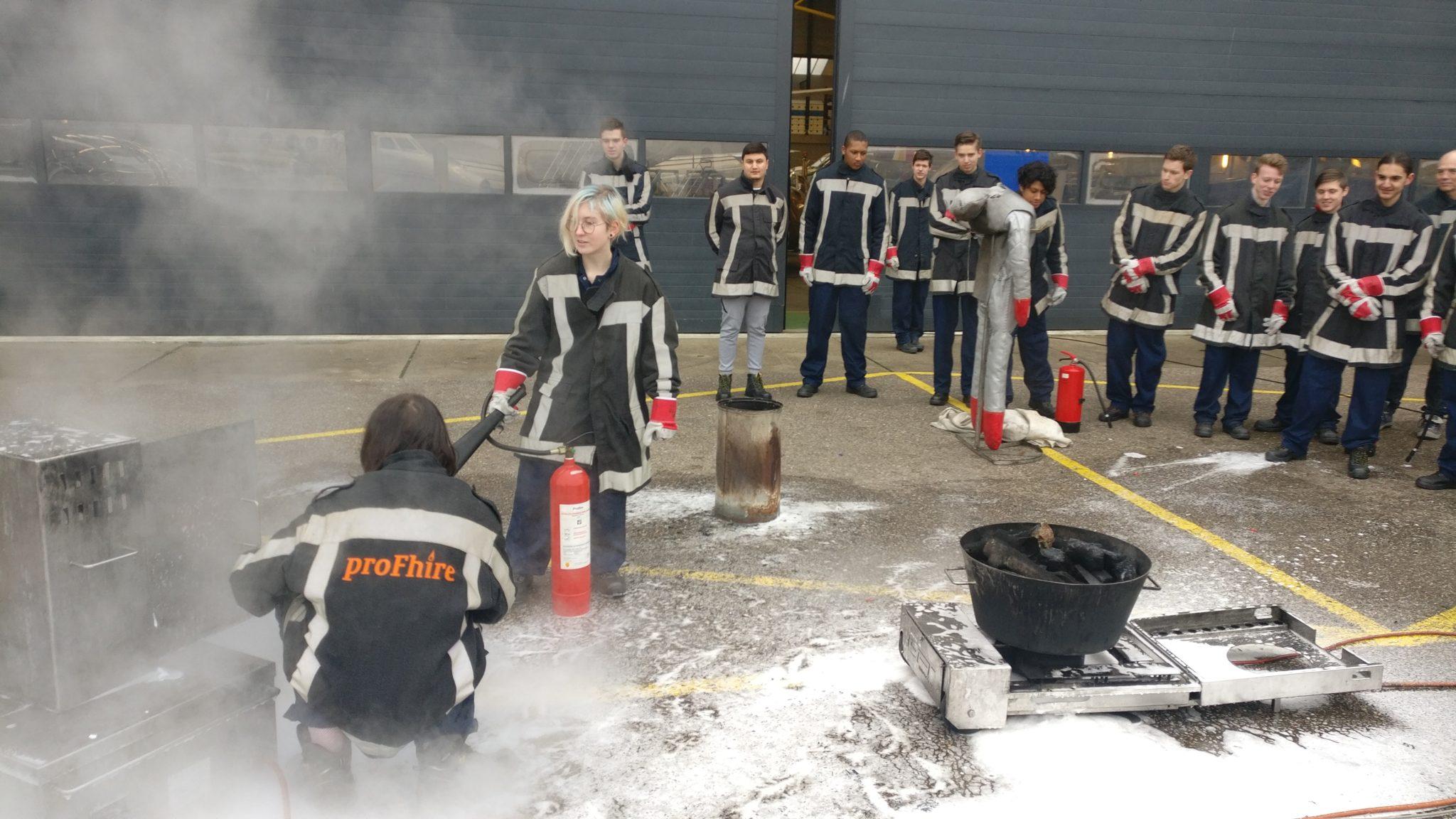 ProFhire verzorgt voor vijfde jaar op rij brandveiligheidsinstructie bij ROC Hoofddorp