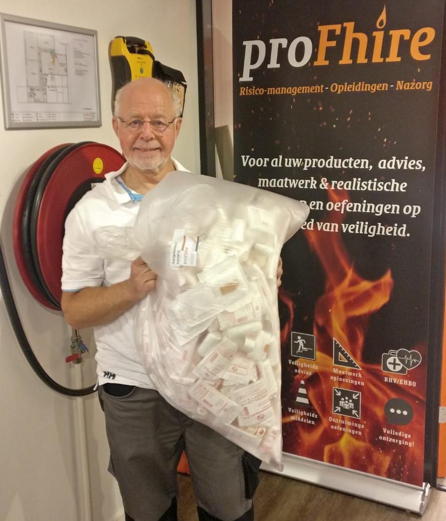 ProFhire doneert verbandmiddelen aan de Reddingsbrigade Haarlem